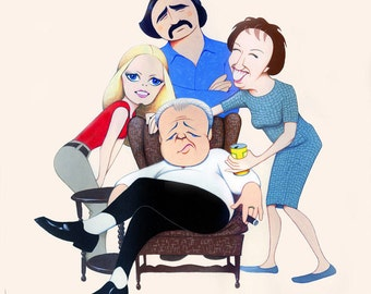 ALL in THE FAMILY limited edition art print by Dave Woodman