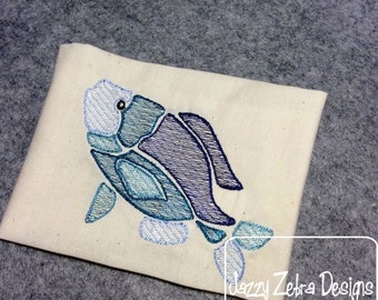 Fish Color Sketch Embroidery Design - beach Sketch Embroidery Design - summer Sketch Embroidery Design - fish Sketch Embroidery Design