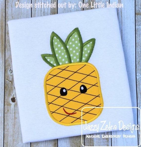 Pineapple Appliqué Embroidery Design - girl appliqué design - boy appliqué design - pineapple appliqué design - summer appliqué design