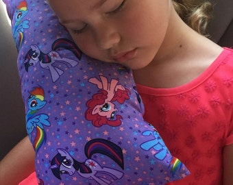 My Little Pony Seat Belt Pillow/Girl's Travel Pillow