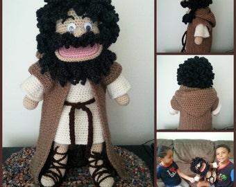 Crocheted JESUS HAND PUPPET pattern