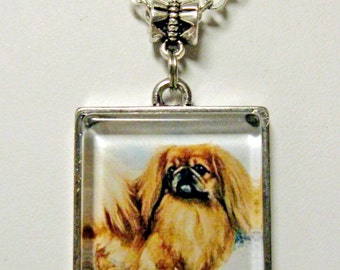 Pekinese pendant with chain - DAP05-055