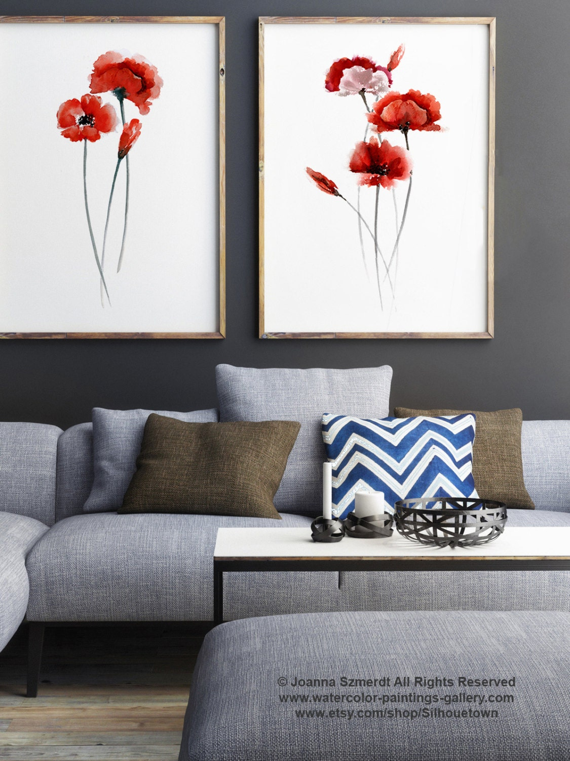 Poppy Flowers Illustration Set Of 2 Poppies Red Home Decor Home Decorators Catalog Best Ideas of Home Decor and Design [homedecoratorscatalog.us]