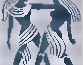 Zodiac Gemini Cross Stitch Pattern