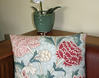 "William Morris Cray Cushion 16"" x 16"" - Sanderson Fabric"