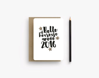 Greeting card with glitter stars
