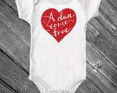A dua come true, Muslim baby onesie, aqeeqah gift - long sleeves