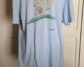 Vintage Far Side T Shirt 1985 Elephant with Flattened Human Gary Larson XL