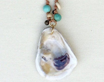 Salty Native Half Shell Boho Necklace