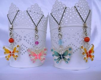 Butterfly Decoration, Dangle, Handbag Charm, or Keyring. Kawaii Gift