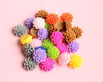 Bloomed Flower Cabochons Flatback Embellishments Kawaii Decoden