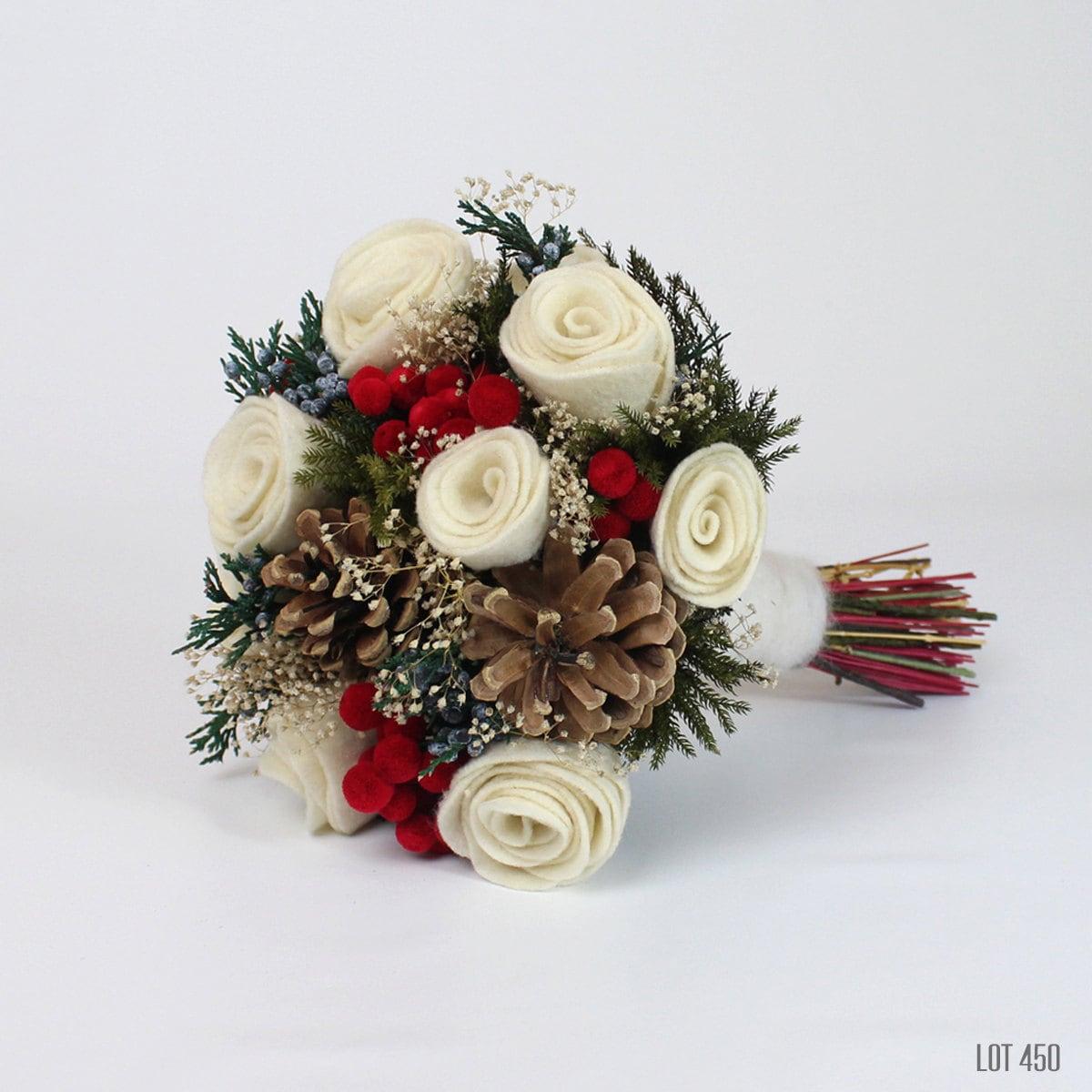 Christmas Wedding: Christmas Wedding Bouquet Holiday Bridal Boquet By Lot450shop