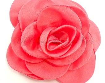 """Coral - 3"""" Rose petal flower - Coral flower"""