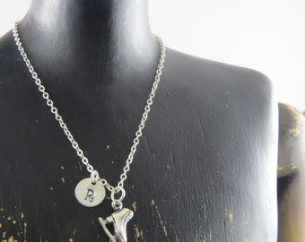 Personalized Ice skate necklace, sterling silver ice skating necklace, ice skater, figure skating, ice skating jewelry, sport necklace, boot