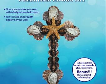 Bounty of the Sea Seashell Cross Kit -DIY Shell Cross