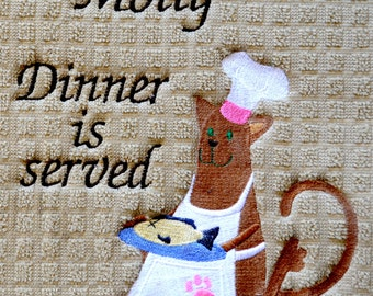 Custom, Personalized, Pet Placemat, Cat Food Mat , Pet Food Mat, Gift For Cat, Cat Dish Mat,  Cat Feeding Mat, Dish Drying Mat
