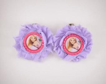 Rapunzel Shoe Clips - Hair Clips - Rapunzel Costume - Disney Princess - Tangled Halloween Costume - Princess Dress Up Shoes