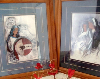Spirit Keepers and Lovers prints by artist Traci Rochelle Rabbit