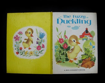 """Vintage Big Golden Book- """"The Fuzzy Duckling"""" by Jane Werner, Pictures by Alice and Martin Provensen, Fourth Printing 1967"""