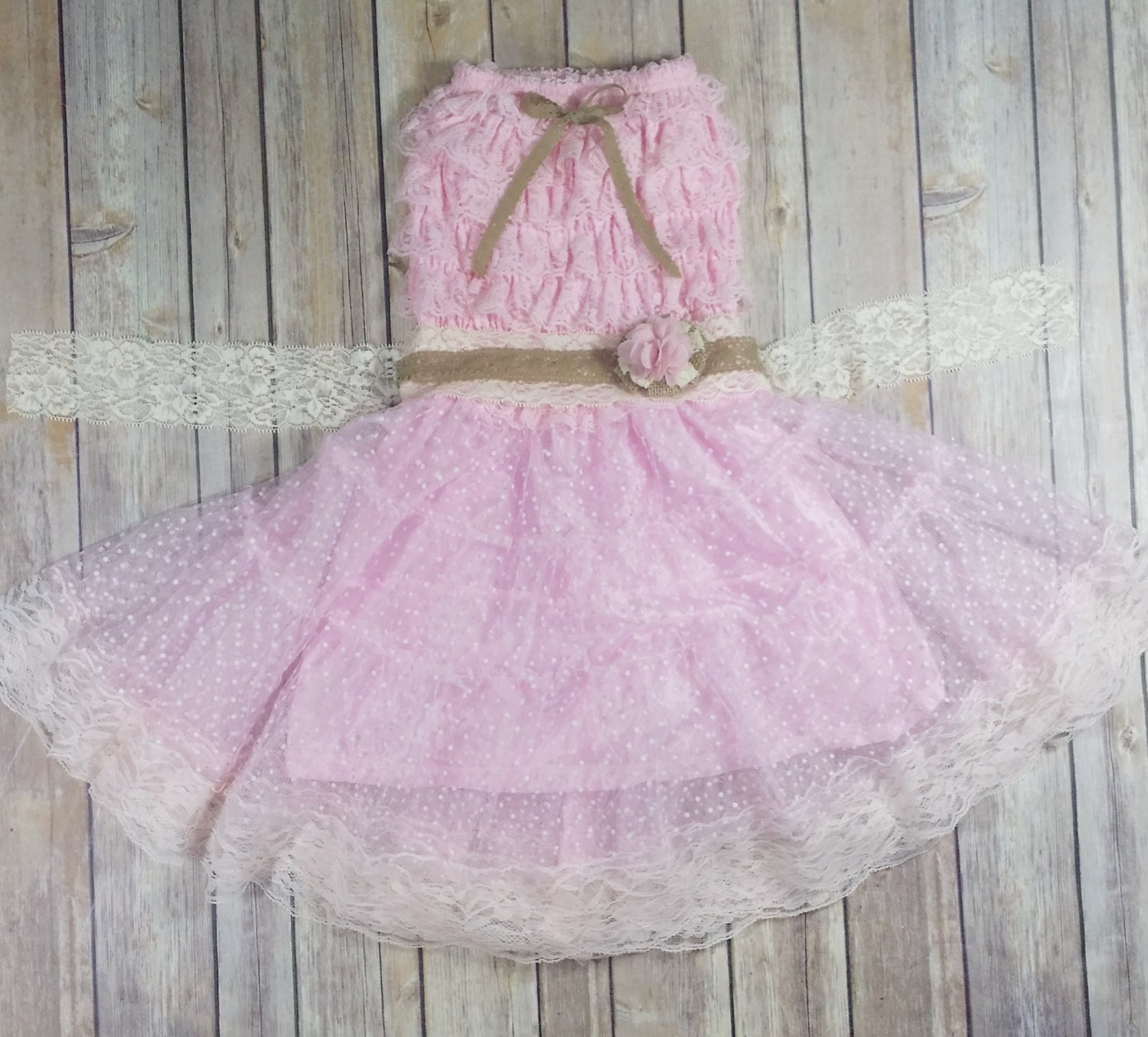 Pink Flower Girl Dress Country Wedding by
