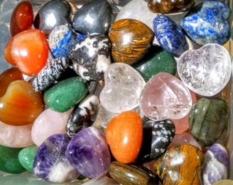 Assorted Crystal Stone Hearts -