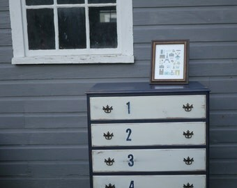 Two Toned Numeric Dresser