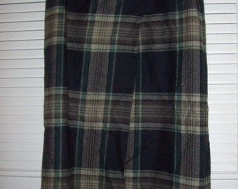 Skirt 8, Eddie Bauer Long Maxi  Blanket Wool Winter Skirt Size 8