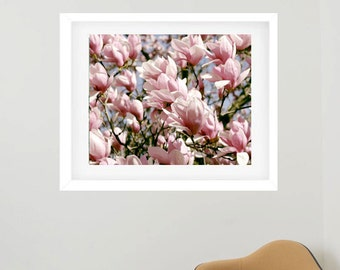 Framed Botanical Print, Framed Photography, Pink Flower Photography, Framed  Wall Art, Floral