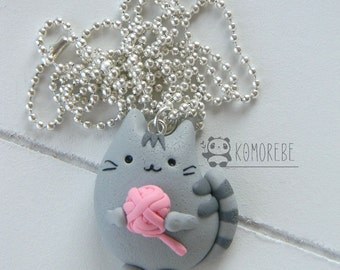 Cat, kitty, skein, necklace, necklace