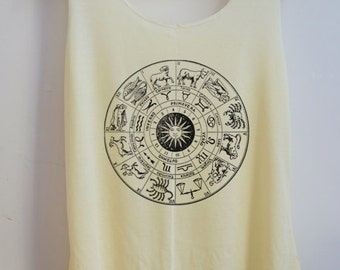 CLEARANCE Zodiac Vintage Shirt Art Vintage Tank Top Art T-Shirt Fashion Shirt  Shirt Women Shirt  Women T-Shirt Tunic Top Vest Size S,M,L