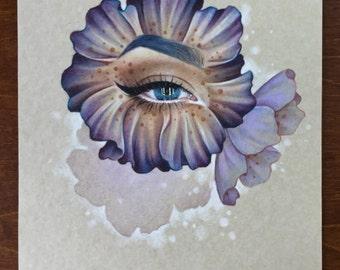 Eye flower drawing