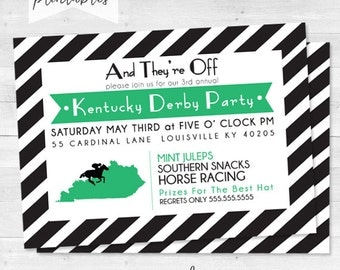 Derby Party Invitations - Kentucky Derby - Mint Julep Modern