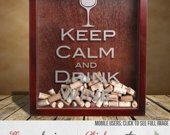 Wine Cork Holder - Handmade Shadow Box with KCDW