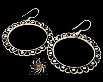 Silver Earrings - Tribal Earrings - Indian Earrings - Gypsy Earrings - Ethnic Earrings - Statement Earrings - Long Earrings (ES60)
