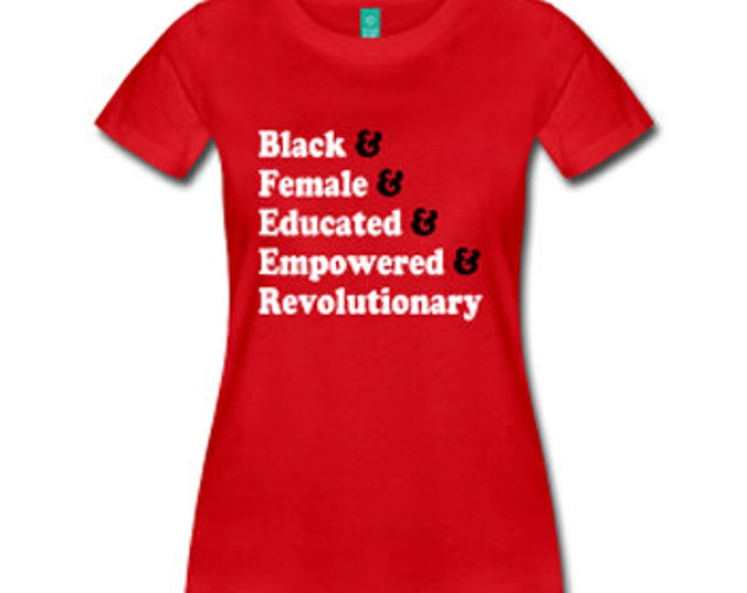 Traits of the Black Woman Fitted T-Shirt - Red