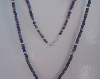 Christian Necklace with Pendant - Purple and Multi-Color