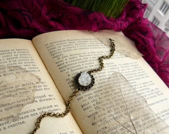 Clear quartz bracelet Stone bracelet Bridesmaids Gift Charm bracelet Womens bracelet Bridesmaid bracelet Chain bracelet quartz Gift for her