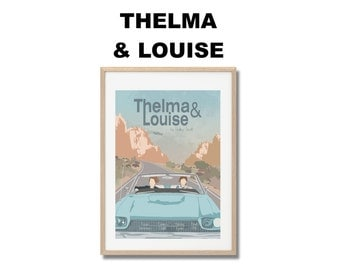 Thelma & Louise Movie Print - Poster Ridley Scott A3