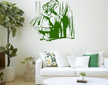 Wall Decal, Alice's Adventures In Wonderland, Alice, Mad Hatter, Alice and the door, Wonderland, Mad Hatter, Rabbit Hole