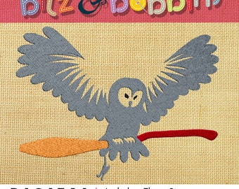 Harry Potter- Hedwig and Broom - Machine Embroidery Design