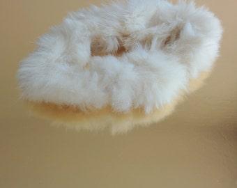 White fur scrunchie