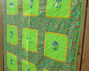 Beware of the Baby Dragon quilt