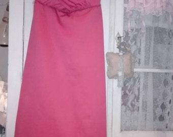 Shabby chic vintage dress peach
