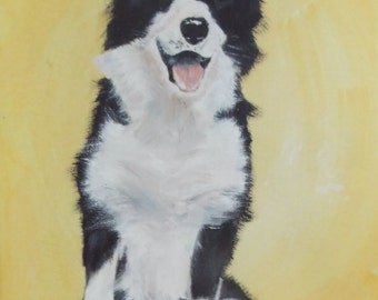 Border Collie - signed original oil painting on canvas