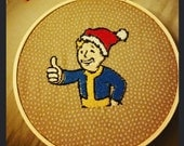 Vault Boy Fallout Christmas Embroidery Decoration