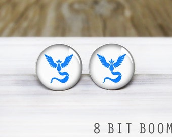 Team Mystic Pokemon Go Stud Earrings - Pokemon Earrings - Hypoallergenic Earrings for Sensitive Ears