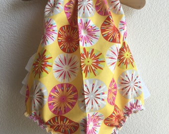 Sunburst Ruffled Baby Girl Romper