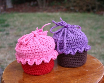 Cupcake Purse, Girls Purse, Cupcake Backpack, Cupcake Bag