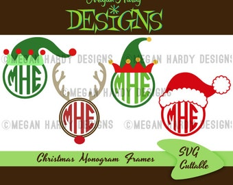 Christmas Monogram Frames SVG