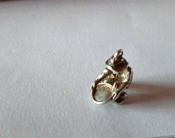 Vintage ~ Gold Miner Charm ~ Gold Rush Panning ~ Gold Mining ~ Panning for Gold Nuggets ~ Yukon Alaska ~ Souvenir Charm ~ 925  Silver